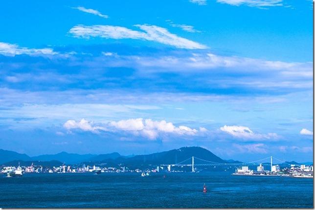温泉から関門海峡