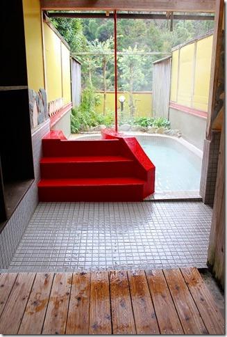 都久志の湯の滑り台付きの家族風呂