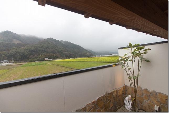杷木の風 露天風呂からの眺め